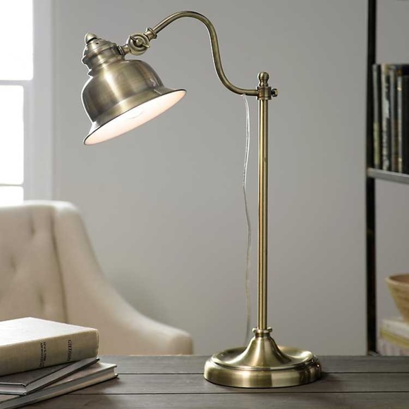 Kirkland's Other - Vintage Antique Gold Task Lamp Set